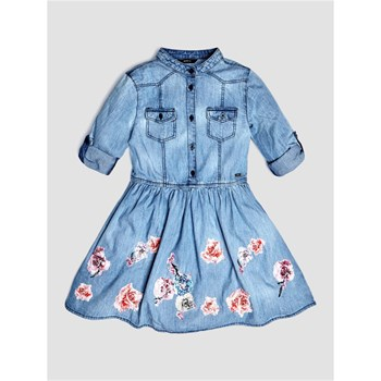 Guess Kids - Robe denim - bleu jean