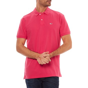 POLO MANCHES COURTES - FUCHSIA Tommy Jeans
