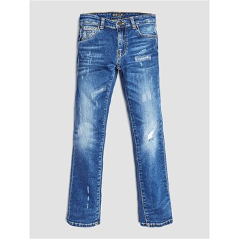 Guess Kids - Jean denim déchiré - bleu