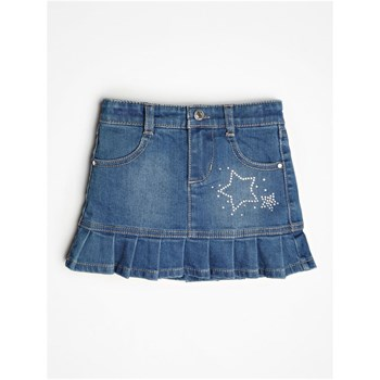 JUPE DENIM AVEC APPLICATION CLOUS - BLEU Guess Kids