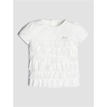 Guess Kids - T-shirt application volants - blanc