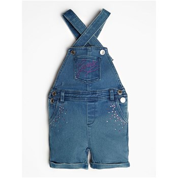 Guess Kids - Salopette denim avec application - bleu jean