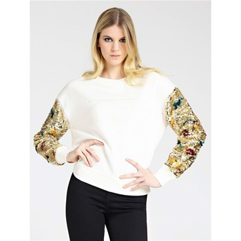 Guess - Sweat-shirt à paillettes - blanc