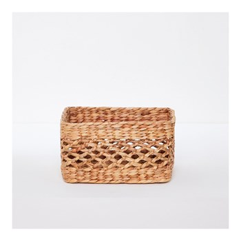 Monoprix - Panier rectangle en jacinthe - beige