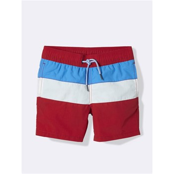 Cyrillus - Short de bain colorblock - rouge