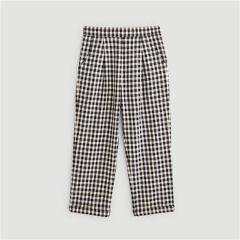 Monoprix Kids - Pantalon à carreaux - noir