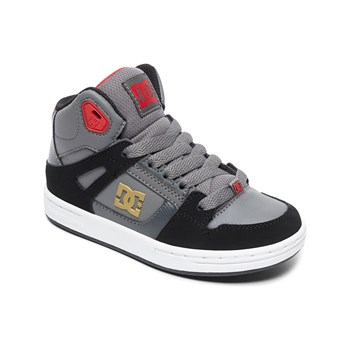 Dc Shoes - Sneakers alte in pelle - grigio