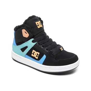 DC Shoes - Baskets montantes en cuir - noir