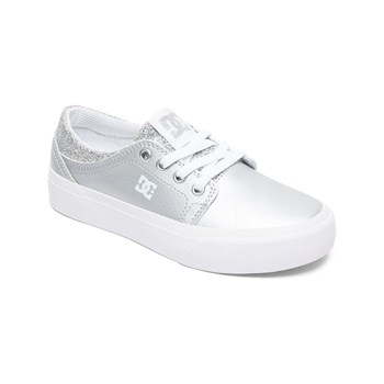 Dc Shoes - Sneakers in pelle - argentato