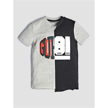 Guess Kids - T-shirt à logo frontal - gris