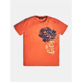 Guess Kids - T-shirt à logo frontal - orange