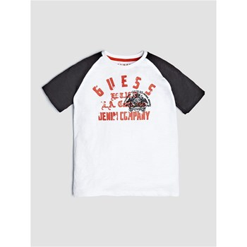 Guess Kids - T-shirt à logo frontal - blanc