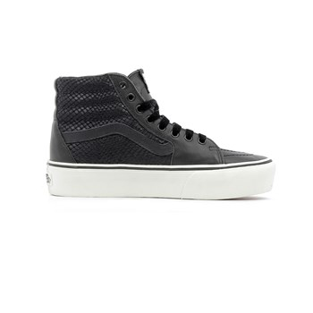 Vans - Sk8-hi platform 2.0 leather - Baskets basses - noir