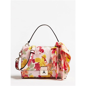SHANNON - SAC À MAIN FLEURI - ROSE Guess
