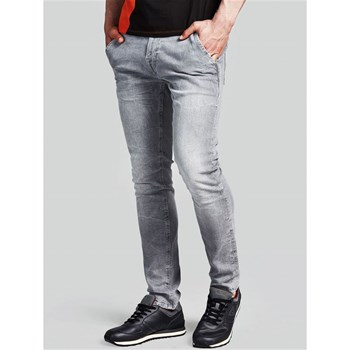 Guess - Jean slim taille basse - gris