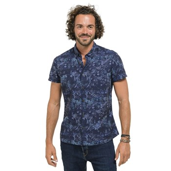 Oxbow - Clower - Chemise manches courtes - bleu
