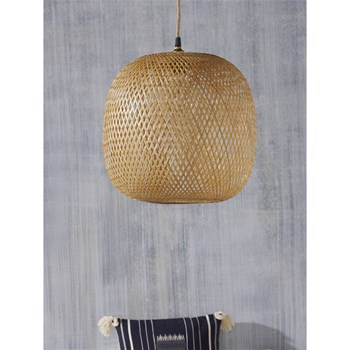 Cyrillus - Suspension boule en bambou - naturel