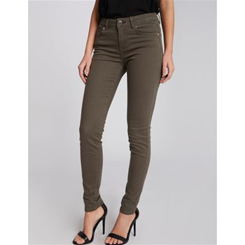 PHILOU - PANTALON 5 POCHES STRASS - OLIVE Morgan
