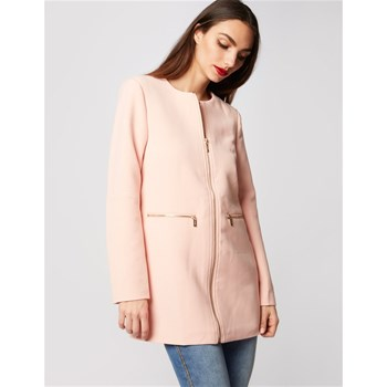 Morgan - Manteau zippé - rose