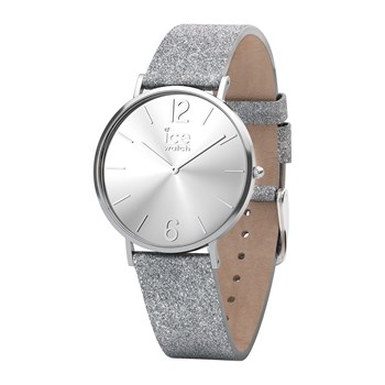 Ice Watch - City sparkling Extra small - Orologio analogico in pelle - argentato