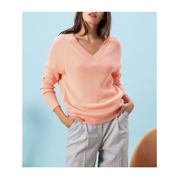Caroll - Lubin - Pullover 50% Wolle - lachsfarben