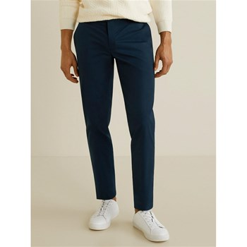 Mango Man - Pantalon slim fit style chino - bleu marine