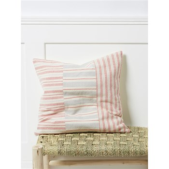 Cyrillus - Coussin fantaisie patchwork - rose