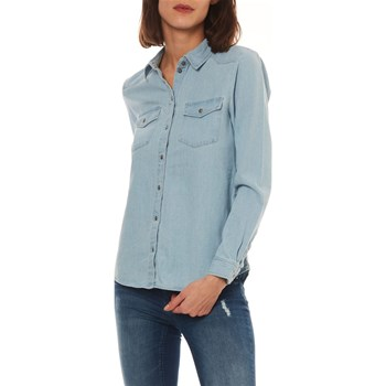 Only - Alma - Chemise manches longues - bleu clair