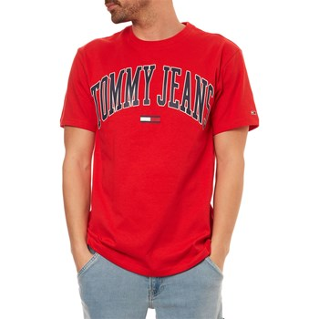 Tommy Jeans - T-shirt manches courtes - ecarlate
