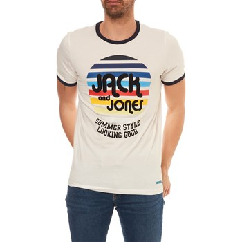 JORPLUI - T-SHIRT MANCHES COURTES - BLANC Jack & Jones