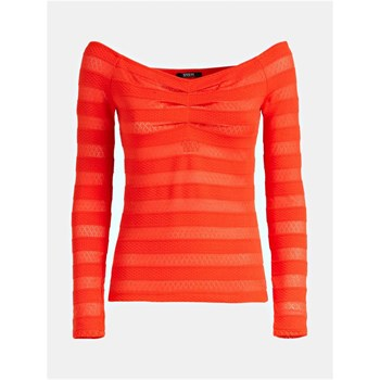 Guess - Top en maille stretch - rouge