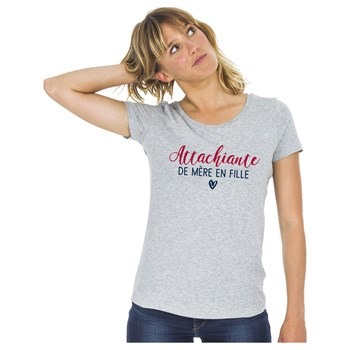 We are family - T-shirt manches courtes - gris chine