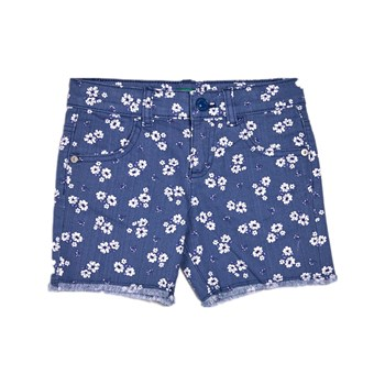 Benetton - Short - bleu floral