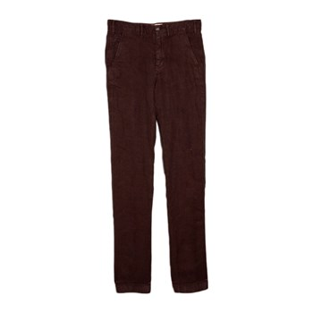 MCS - Pantalon chino 100% lin - marron