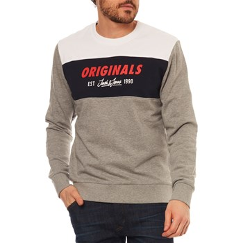 JORSHAKEDOWNS - SWEAT-SHIRT - GRIS CLAIR Jack & Jones