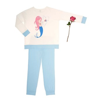 Benetton - Ensemble t-shirt et pantalon - bleu