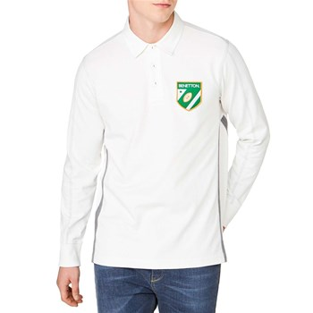 Benetton - Polo manches longues - blanc
