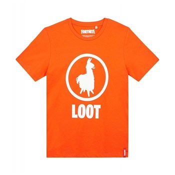 Fortnite - T-shirt manches courtes - orange