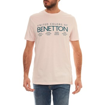 Benetton - T-shirt manches courtes - rose