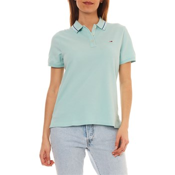 Tommy Jeans - Polo manches courtes - menthe