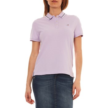 Tommy Jeans - Polo manches courtes - parme