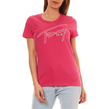 Tommy Jeans - T-shirt manches courtes - fuchsia