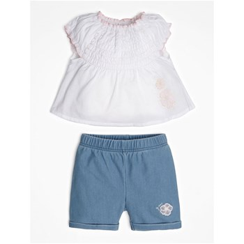 Guess Kids - Ensemble top et short en jean - blanc