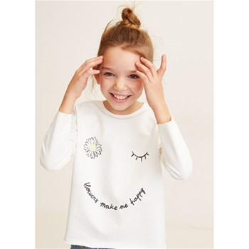 Mango Kids - Happy - Sweat-shirt - blanc
