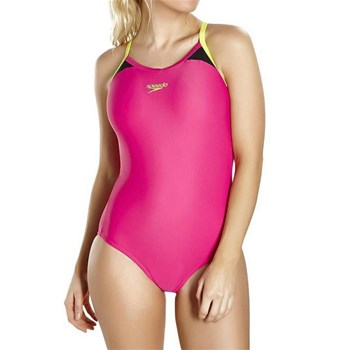 Speedo - Splice thinstrap racerback  - Maillot 1 pièce - rose
