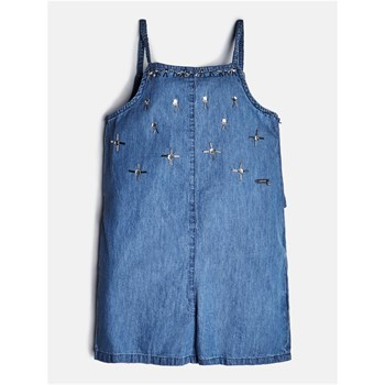 Guess Kids - Combi-short en jean avec applications - bleu jean