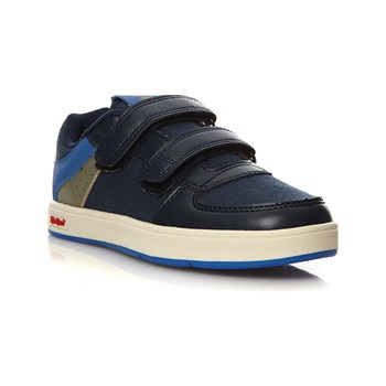 Kickers - Gready Low - Baskets en cuir - bleu marine