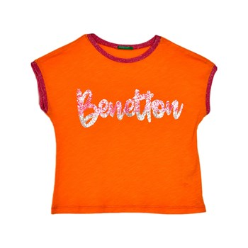 Benetton - Zerododoci - T-shirt manches courtes - moutarde