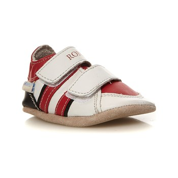 Robeez - Fast Feet - Baskets en cuir - rouge