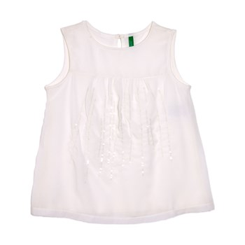 Benetton - Zerododoci - Top - blanco